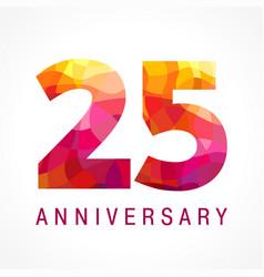 25 anniversary red logo vector
