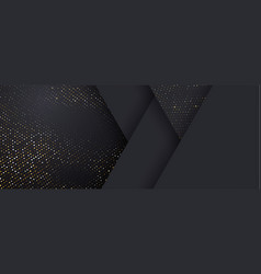 background black and gold halftone shine dots on vector image