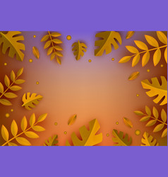 background template autumn leaves vector image