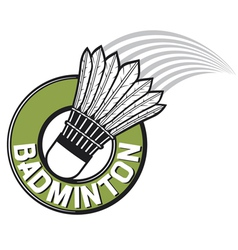 badminton label vector image