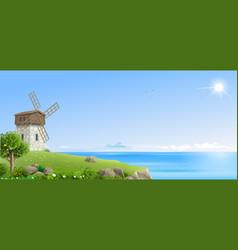 banner natural fantasy landscape vector image