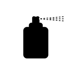 black spray can icon on white background vector image