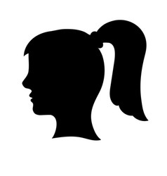 black womans head outline vector image