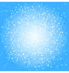 Blue abstract background with stars vector