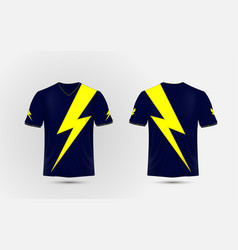 Blue and yellow layout sport shirt design vector