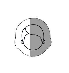Boy face icon vector