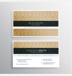 Business card design with circlular pattern vector