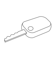 Car keycar single icon in outline style vector