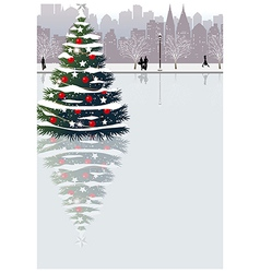 Christmas Cityscape vector image