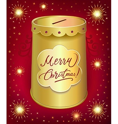 Christmas moneybox tin can vector