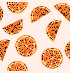clementine mandarin citrus orange fruit seamless vector image