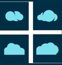 cloud tech logo vector image