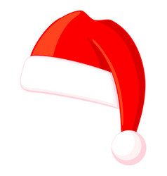 colorful cartoon christmas hat vector image
