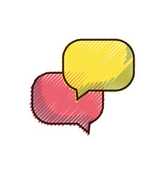 Doodle chat bubbles message text notes vector
