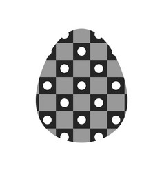 easter egg black and white flat icon for holiday vector image
