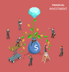 financial investment flat isometric concept vector image