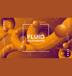 Fluid background design vector