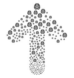 forward direct arrow shape with brain vector image