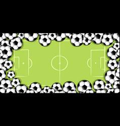 Frame of soccer balls vector