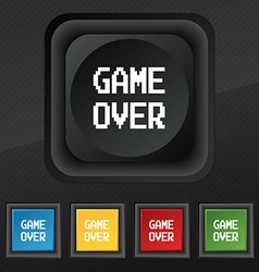 Game over concept icon symbol Set of five colorful vector