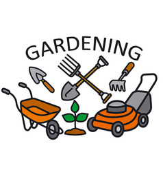 gardening sign vector image