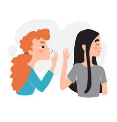 Girl refuses to listen to gossip stop gossip vector