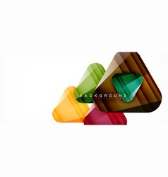glass triangles modern geometric composition vector image