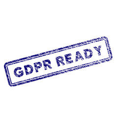 Grunge textured gdpr ready rectangle stamp seal vector