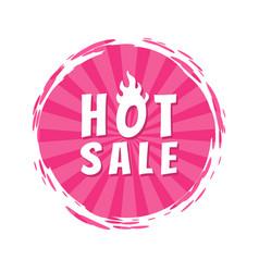 Hot sale inscription pink paint spot brush stroke vector