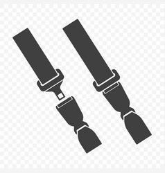 icon of an open and closed car seat belt vector image