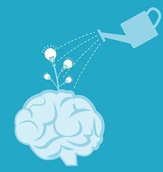 Idea watering vector image