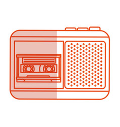 journalist recorder isolated icon vector image