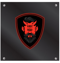 king of the road red devil background image vector image