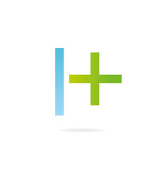 Letter h logo design template elements cross vector