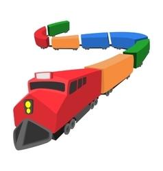 Locomotive cartoon icon vector image