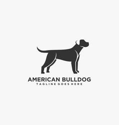 Logo american bulldog negative space style vector