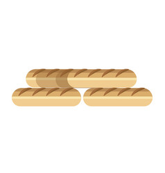 long fresh french delicious baguettes made of vector image