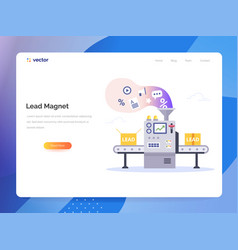 managing sales concept in flat style vector image