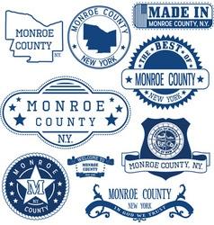 Monroe county new york vector