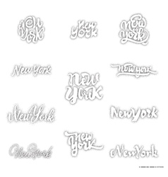 New York - hand drawn dotwork calligraphy and vector