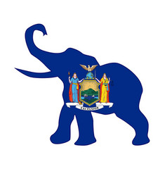 new york republican elephant flag vector image