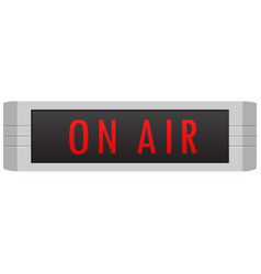 on air sign vector image