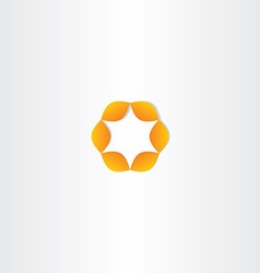 Orange circle star icon vector