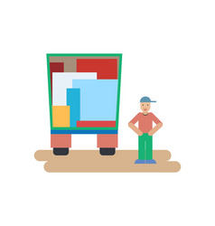 person carrying the goods vector image