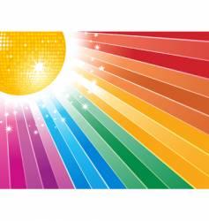 rainbow starburst vector image