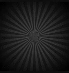 Retro shiny starburst black background vector