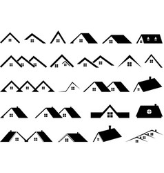 roof collection vector image