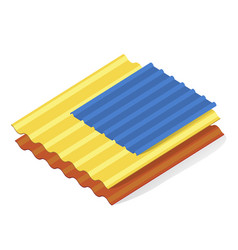 roofing sandwich panels flat vector image