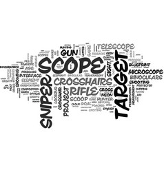 Scope word cloud concept vector