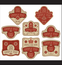 set labels templates in baroque style vector image